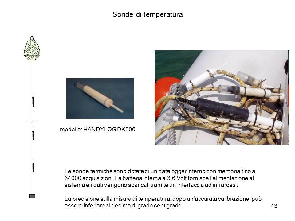 Sonde di temperatura modello: HANDYLOG DK500
