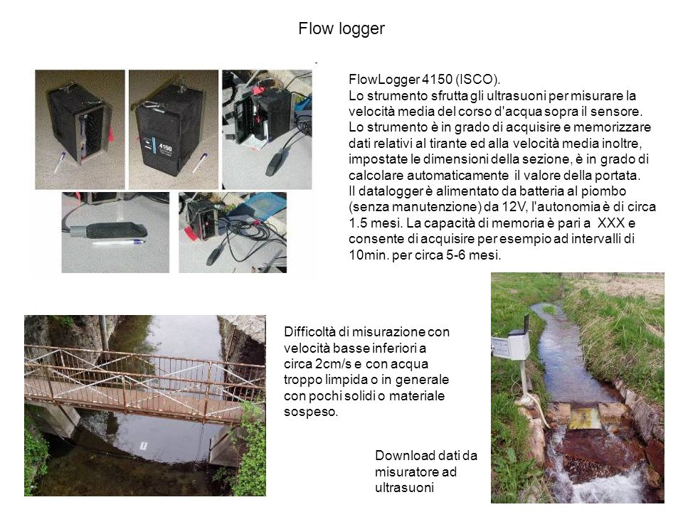 Flow logger FlowLogger 4150 (ISCO).