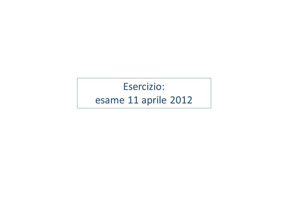 Esercizio: esame 11 aprile 2012