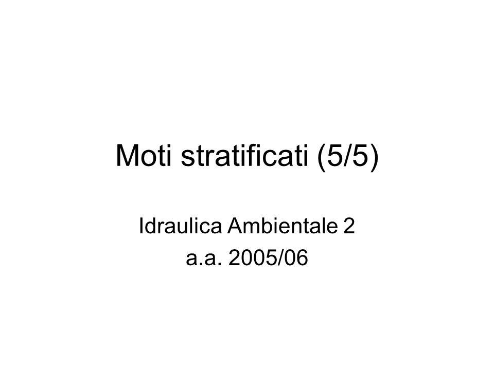Idraulica Ambientale 2 a.a. 2005/06