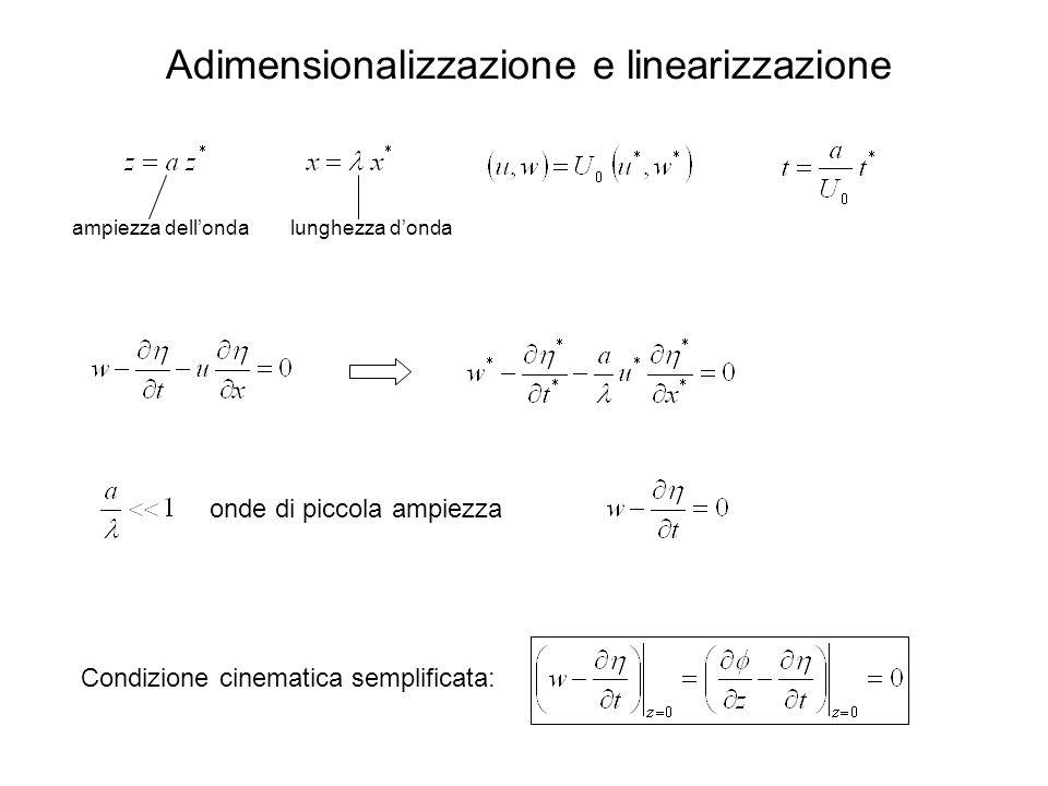 Adimensionalizzazione e linearizzazione