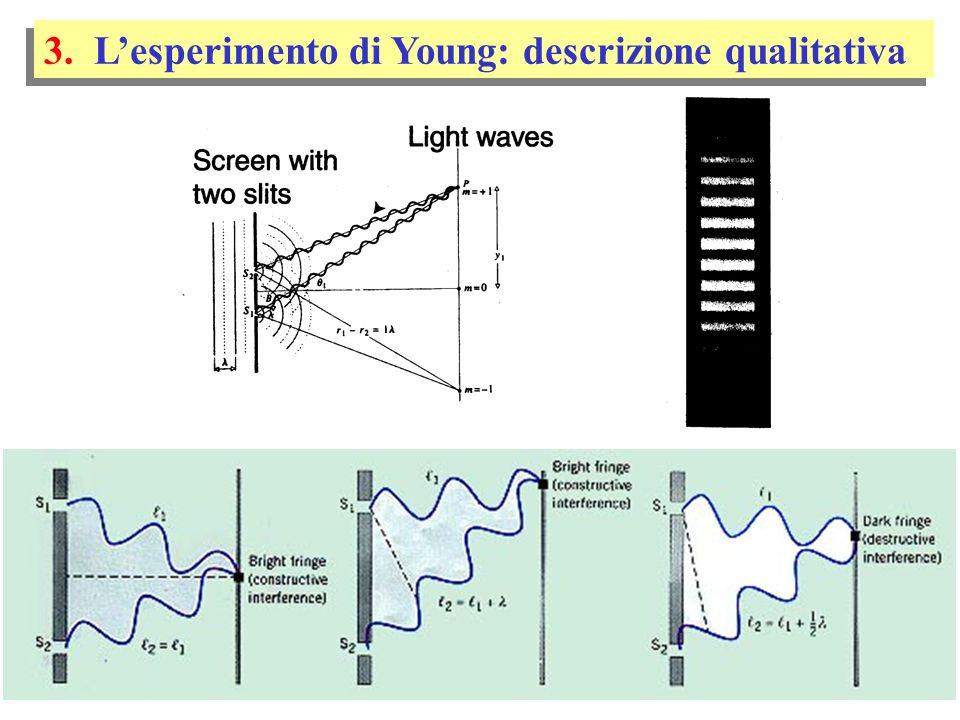 3. L'esperimento di Young: descrizione qualitativa