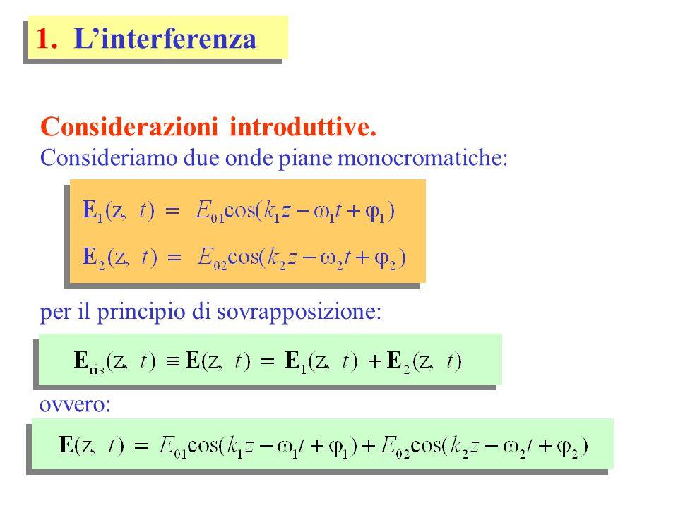 1. L'interferenza Considerazioni introduttive.