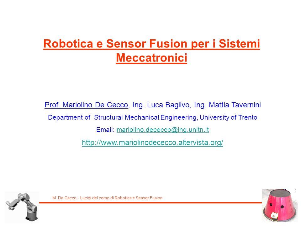 Robotica e Sensor Fusion per i Sistemi Meccatronici