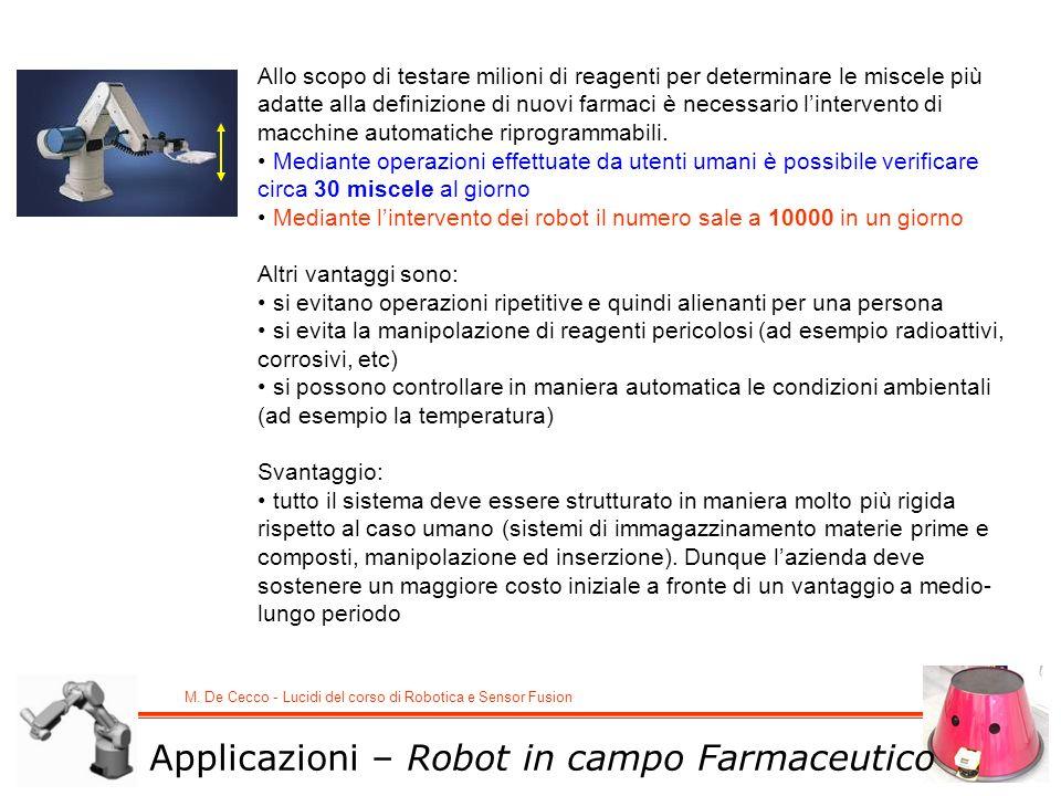 Applicazioni – Robot in campo Farmaceutico