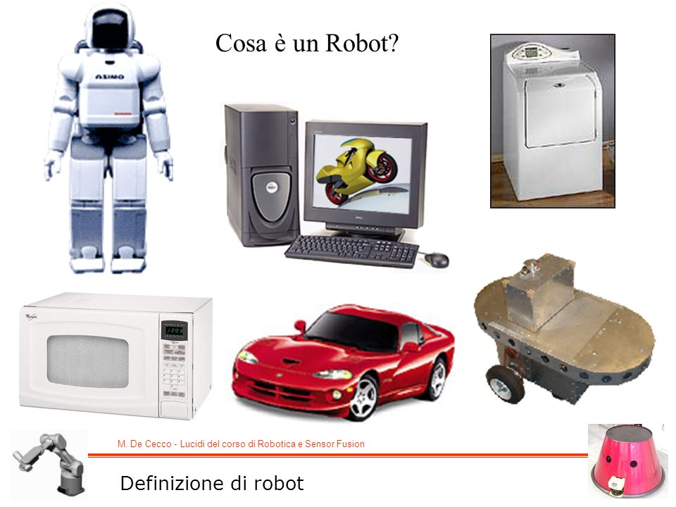 Cosa è un Robot Definizione di robot