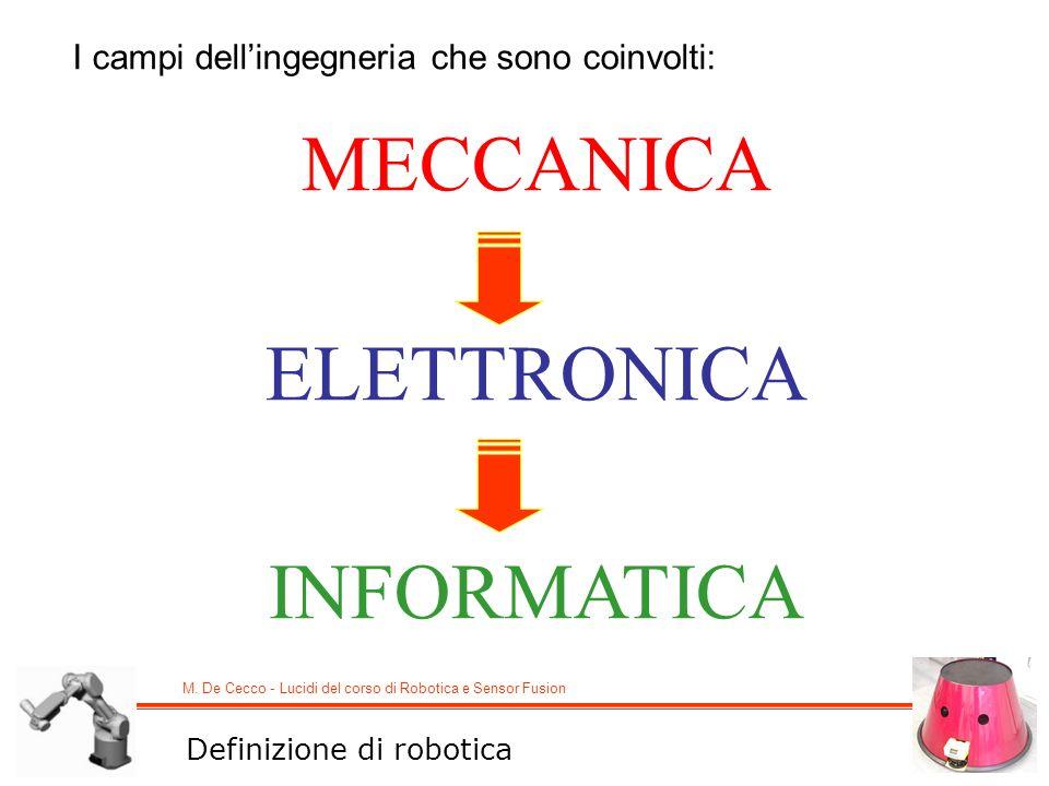 MECCANICA ELETTRONICA INFORMATICA