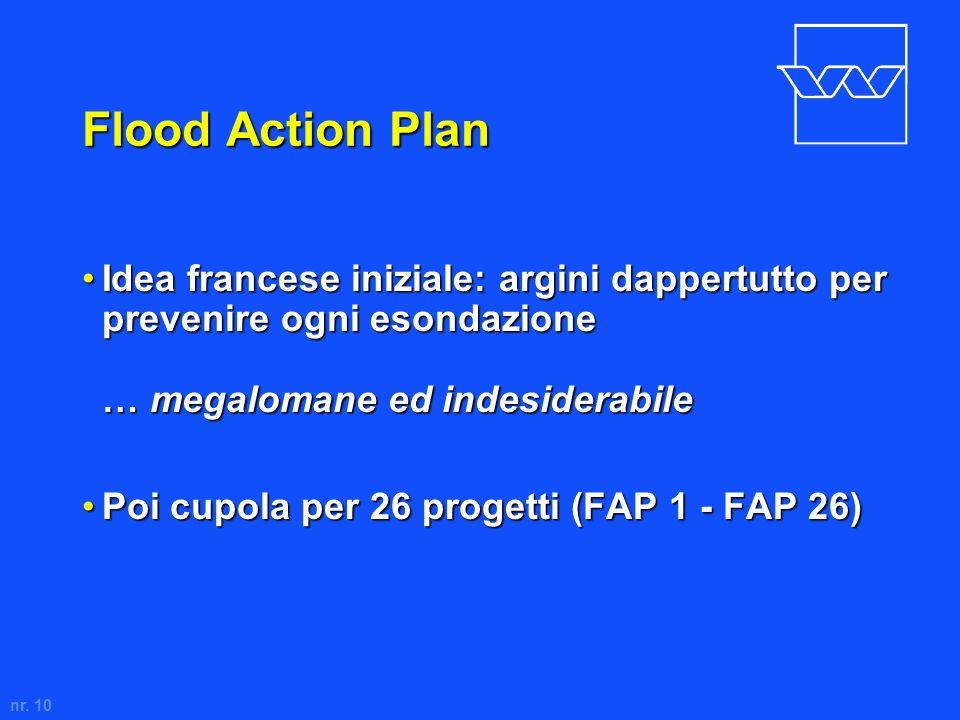Flood Action Plan Idea francese iniziale: argini dappertutto per prevenire ogni esondazione … megalomane ed indesiderabile.