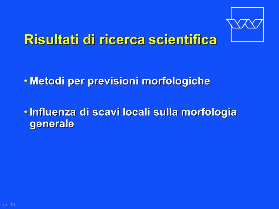 Risultati di ricerca scientifica