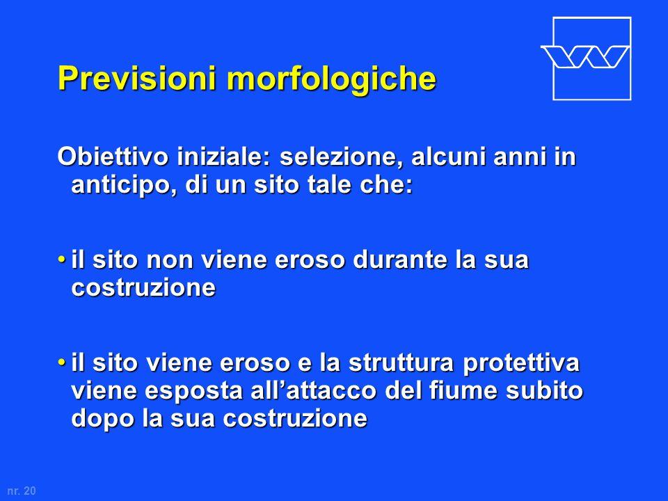 Previsioni morfologiche
