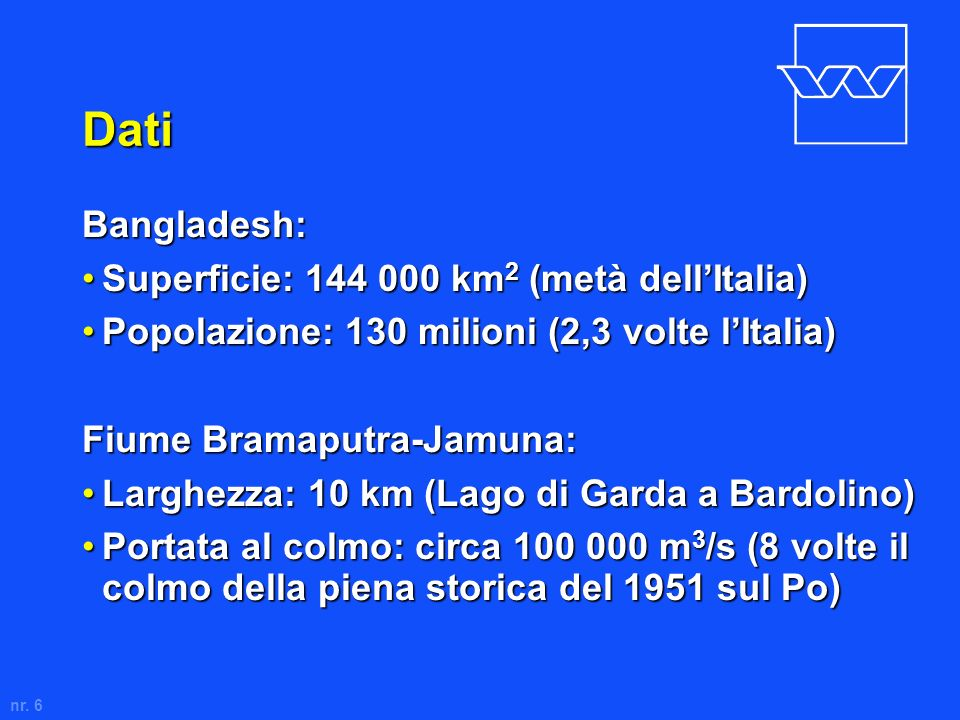 Dati Bangladesh: Superficie: 144 000 km2 (metà dell'Italia)