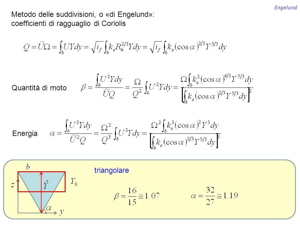 Metodo delle suddivisioni, o «di Engelund»: