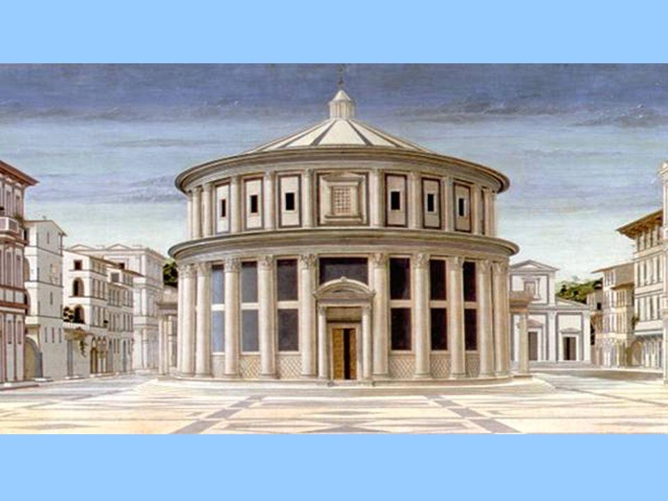 La città ideale, ritenuta della scuola di Piero, recentemente attribuita a Leon B. Alberti