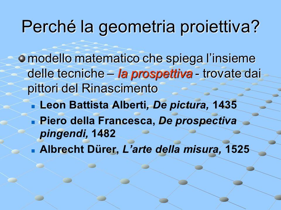 Perché la geometria proiettiva