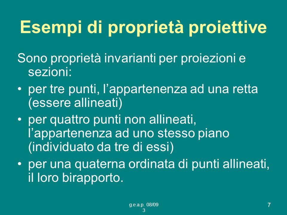 Esempi di proprietà proiettive