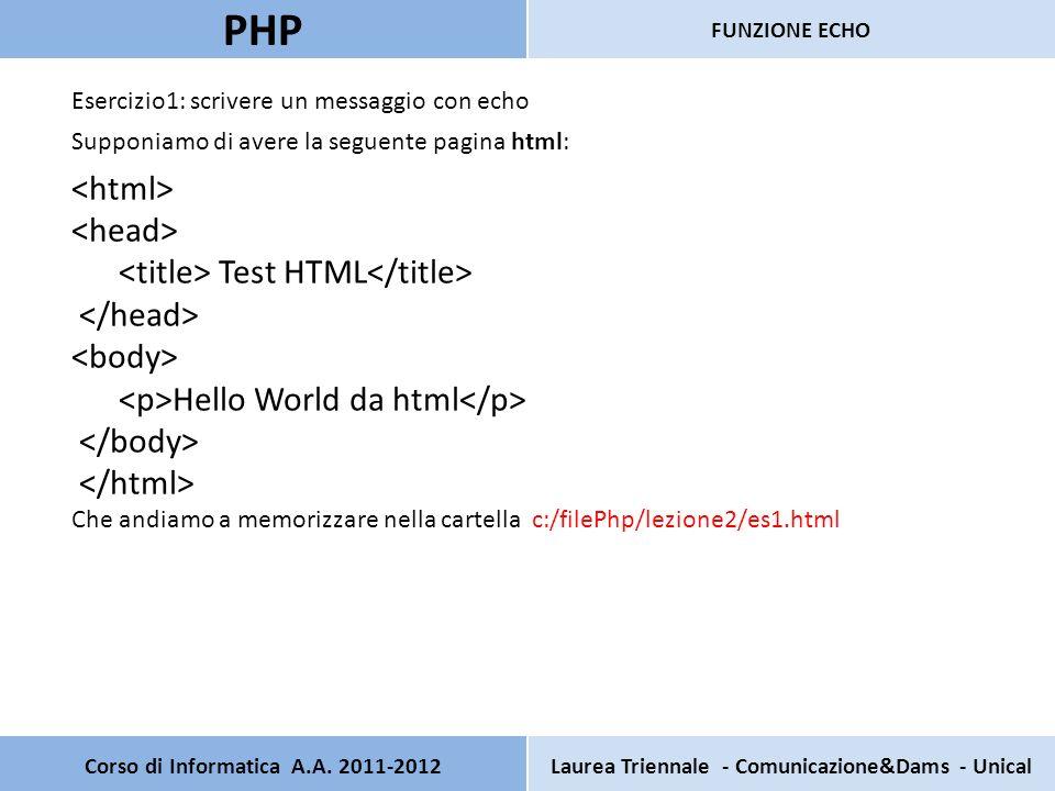 Corso di Informatica A.A. 2011-2012