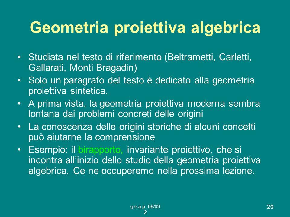 Geometria proiettiva algebrica