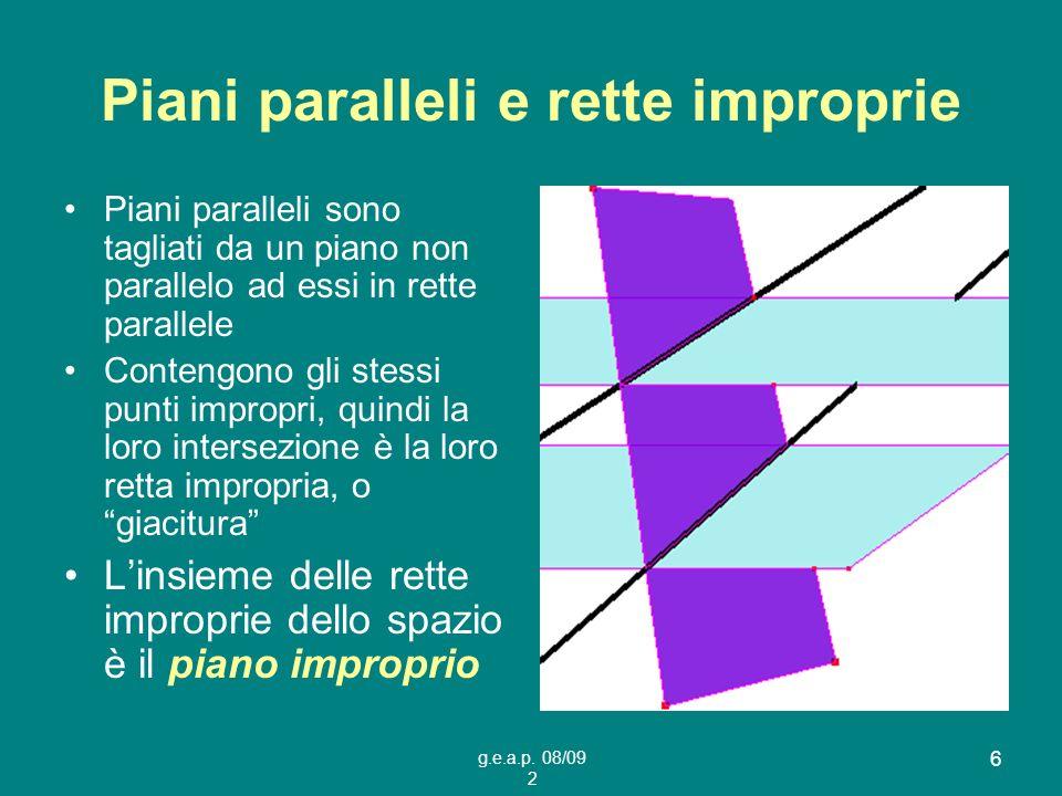 Piani paralleli e rette improprie