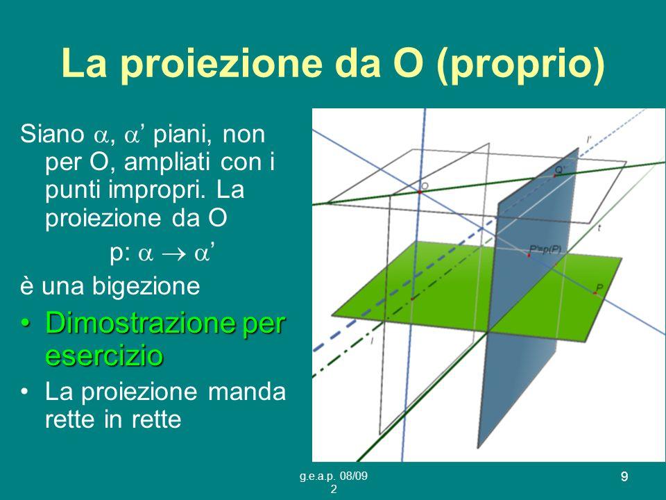 La proiezione da O (proprio)