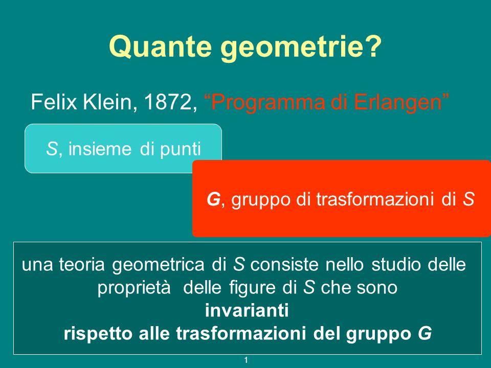 Quante geometrie Felix Klein, 1872, Programma di Erlangen
