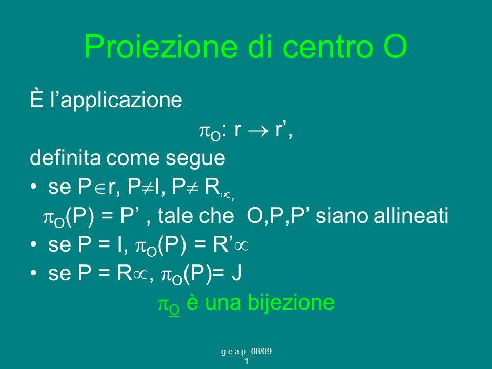 O(P) = P' , tale che O,P,P' siano allineati