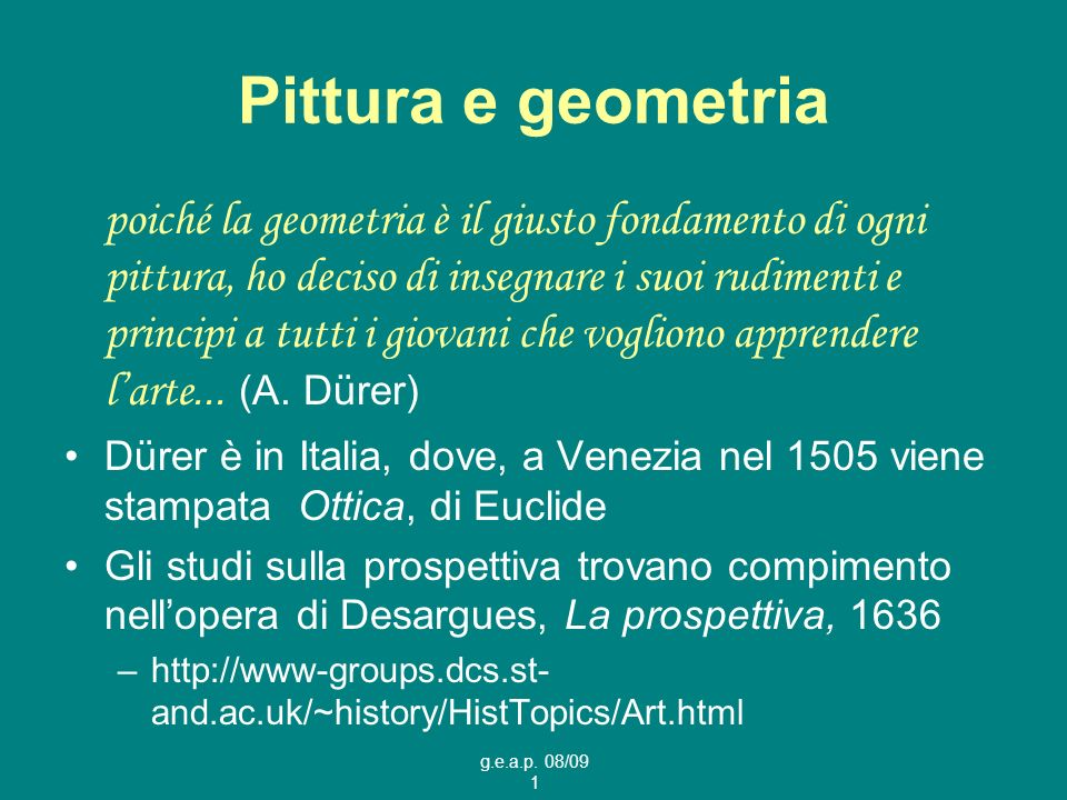 Pittura e geometria