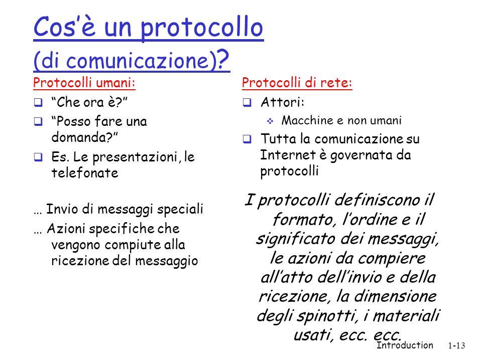 Cos'è un protocollo (di comunicazione)