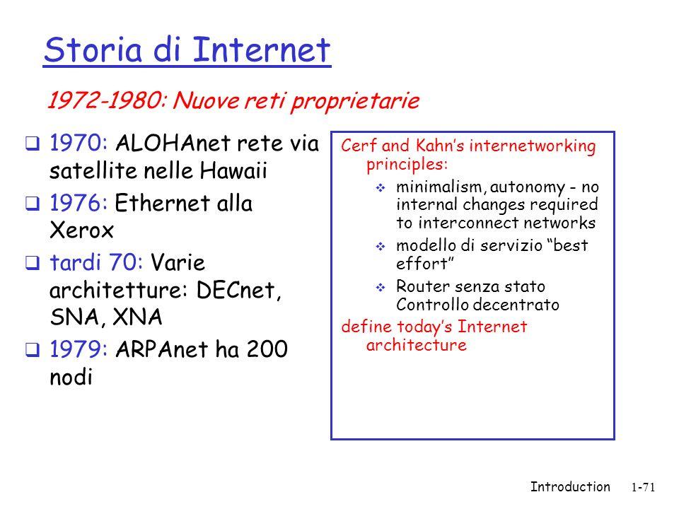 Storia di Internet 1972-1980: Nuove reti proprietarie