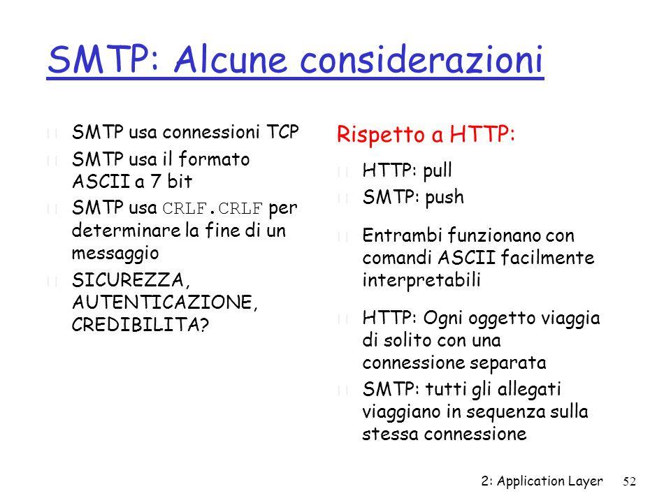 SMTP: Alcune considerazioni