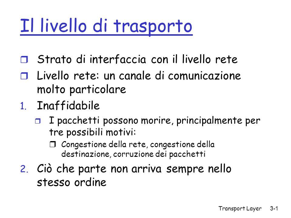 Il livello di trasporto