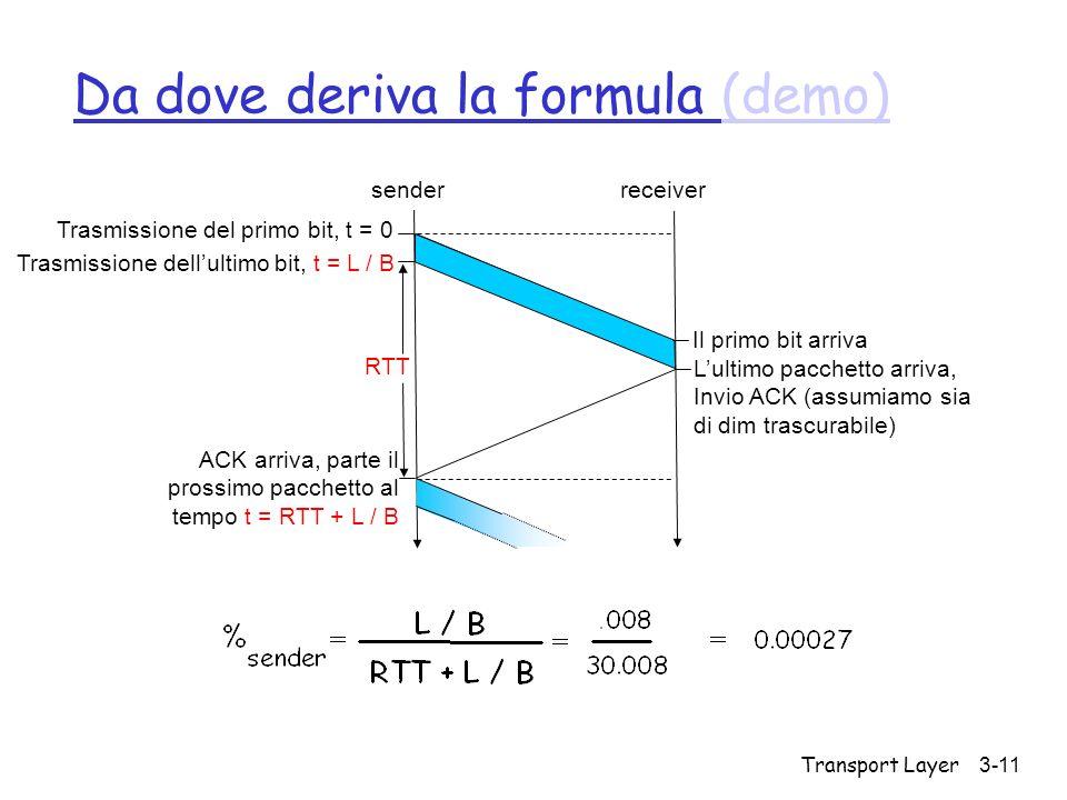 Da dove deriva la formula (demo)