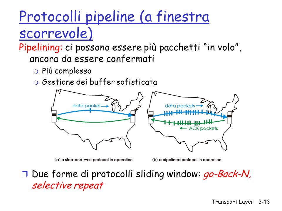 Protocolli pipeline (a finestra scorrevole)