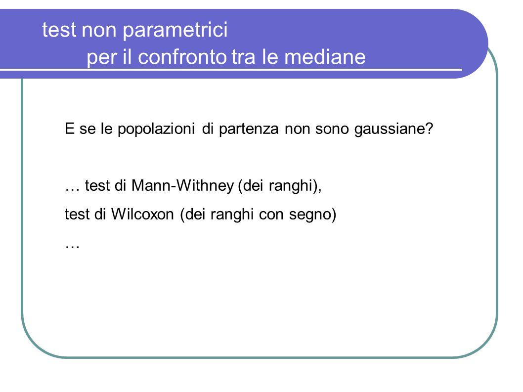 test non parametrici per il confronto tra le mediane