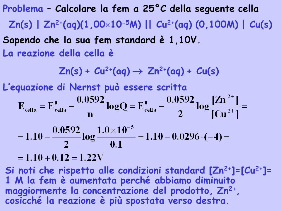 Zn(s) | Zn2+(aq)(1,0010-5M) || Cu2+(aq) (0,100M) | Cu(s)