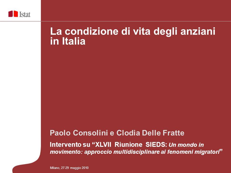 La condizione di vita degli anziani in Italia