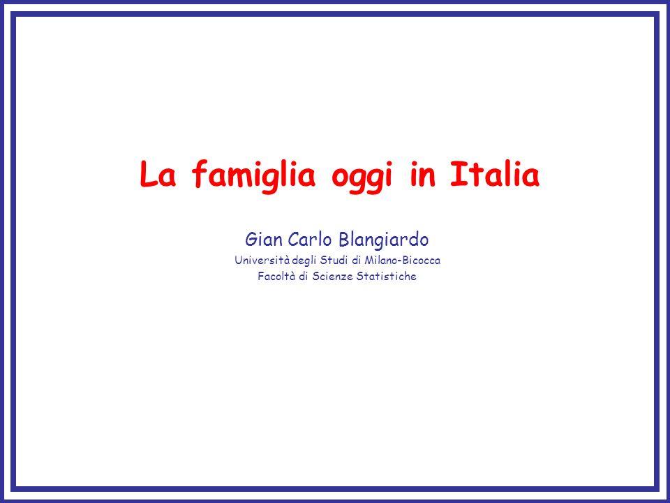 La famiglia oggi in Italia