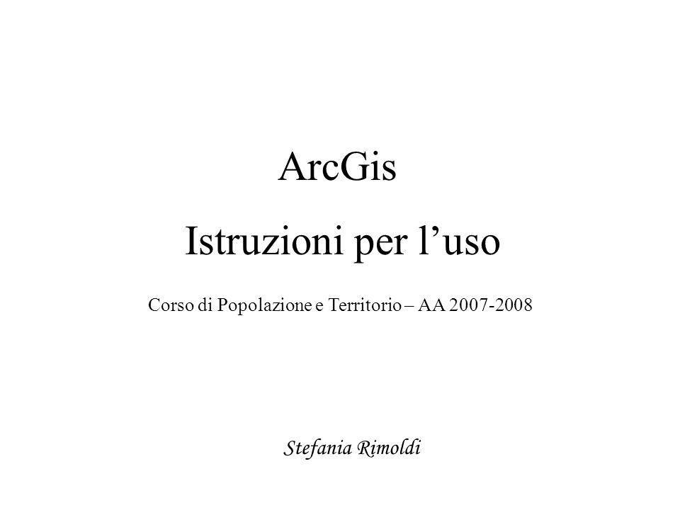 Corso di Popolazione e Territorio – AA 2007-2008