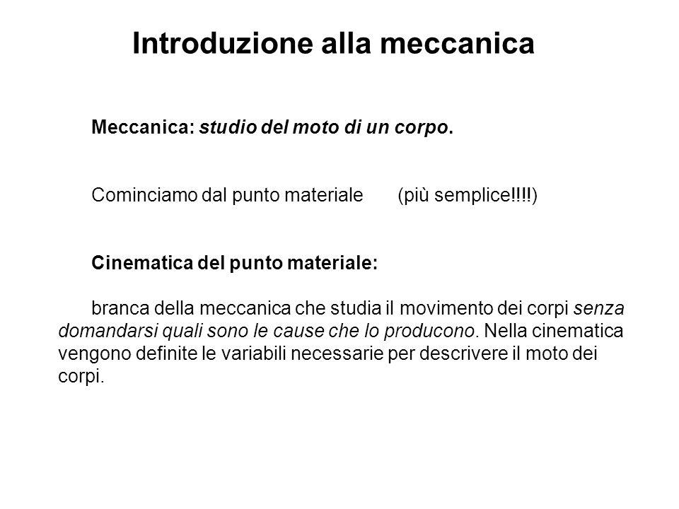 Introduzione alla meccanica
