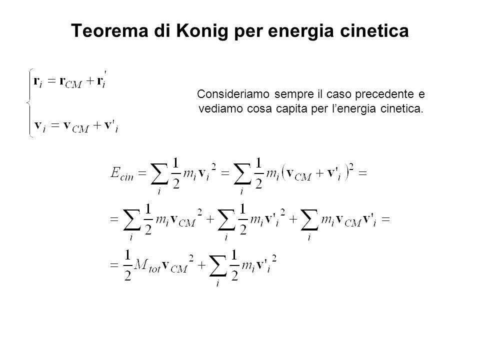 Teorema di Konig per energia cinetica