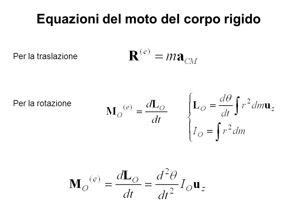 Equazioni del moto del corpo rigido