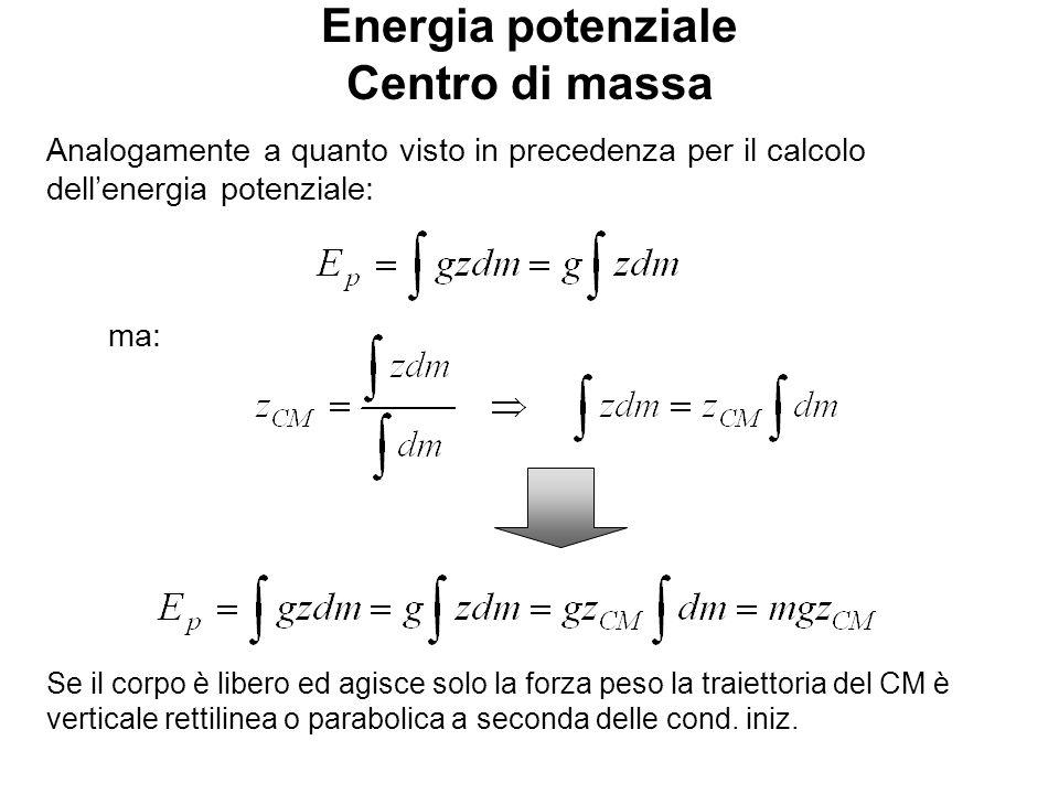 Energia potenziale Centro di massa