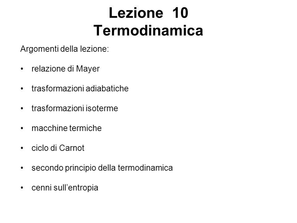 Lezione 10 Termodinamica