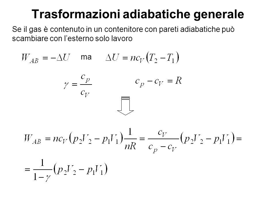 Trasformazioni adiabatiche generale