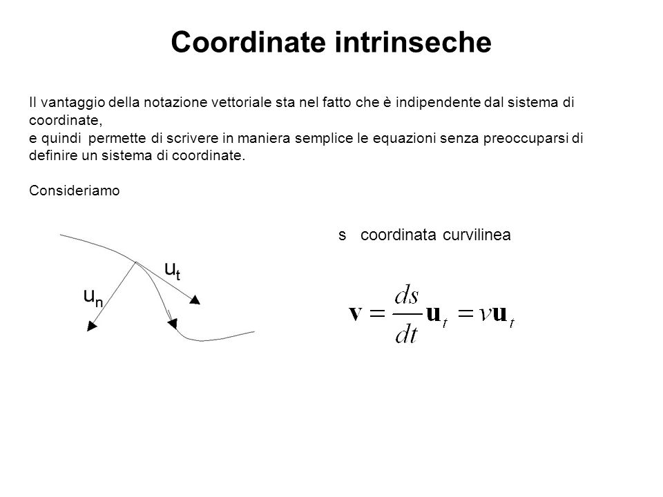 Coordinate intrinseche