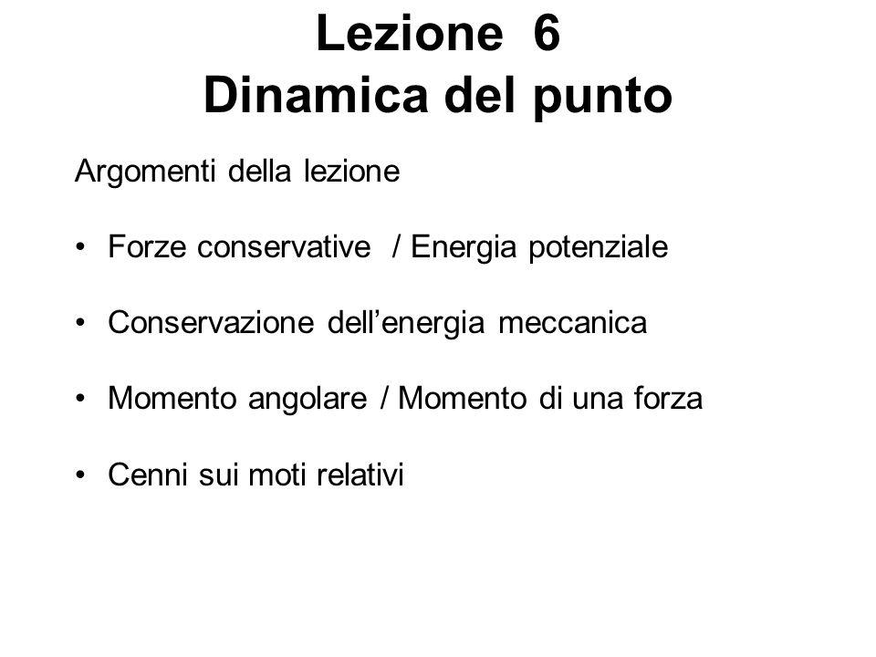 Lezione 6 Dinamica del punto