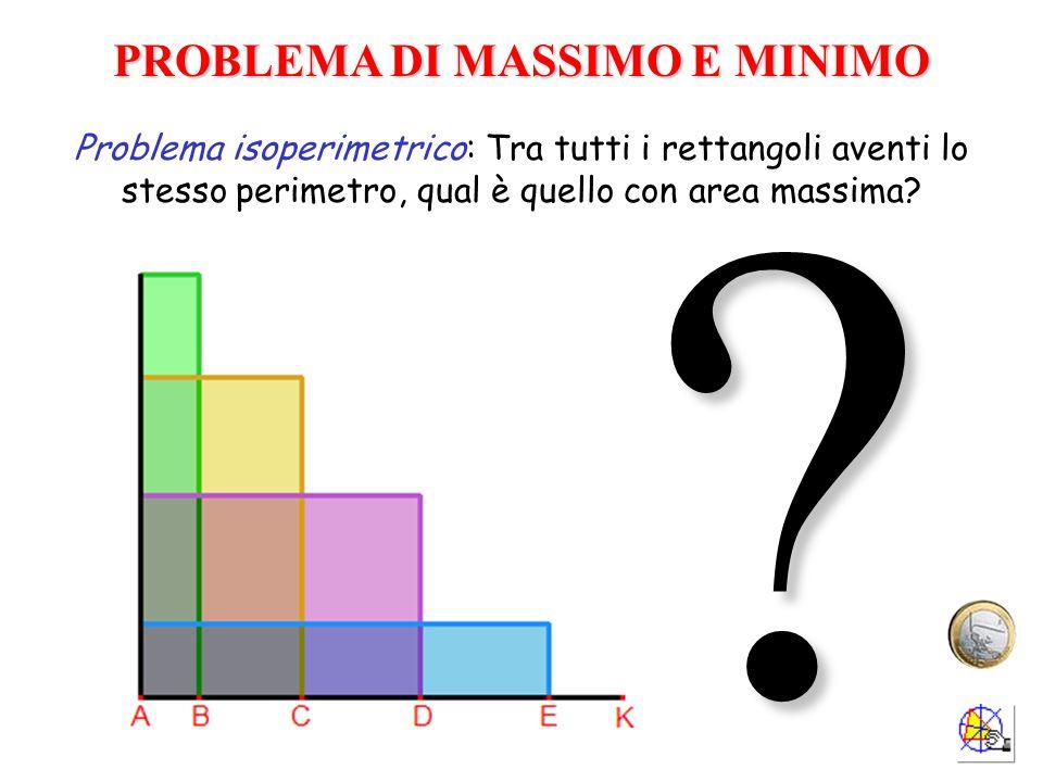 PROBLEMA DI MASSIMO E MINIMO