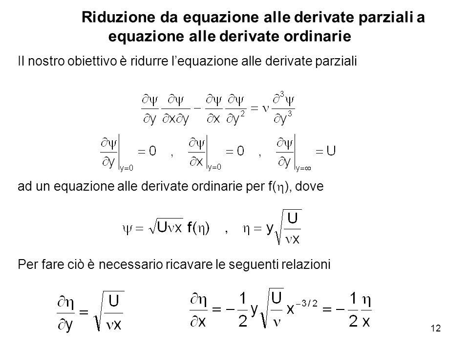 Riduzione da equazione alle derivate parziali a equazione alle derivate ordinarie