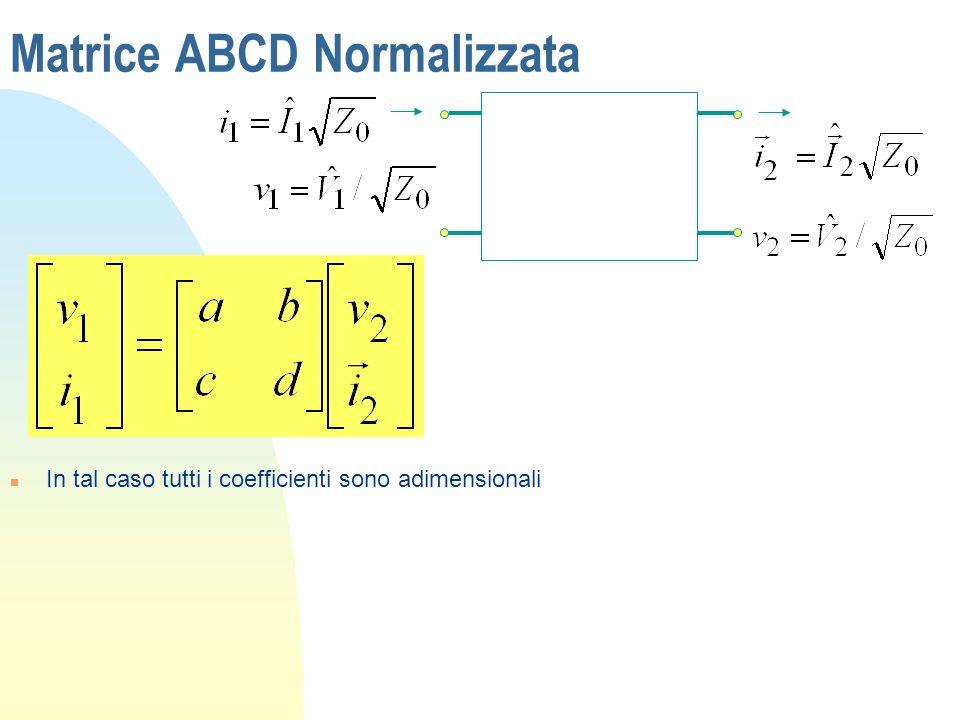 Matrice ABCD Normalizzata
