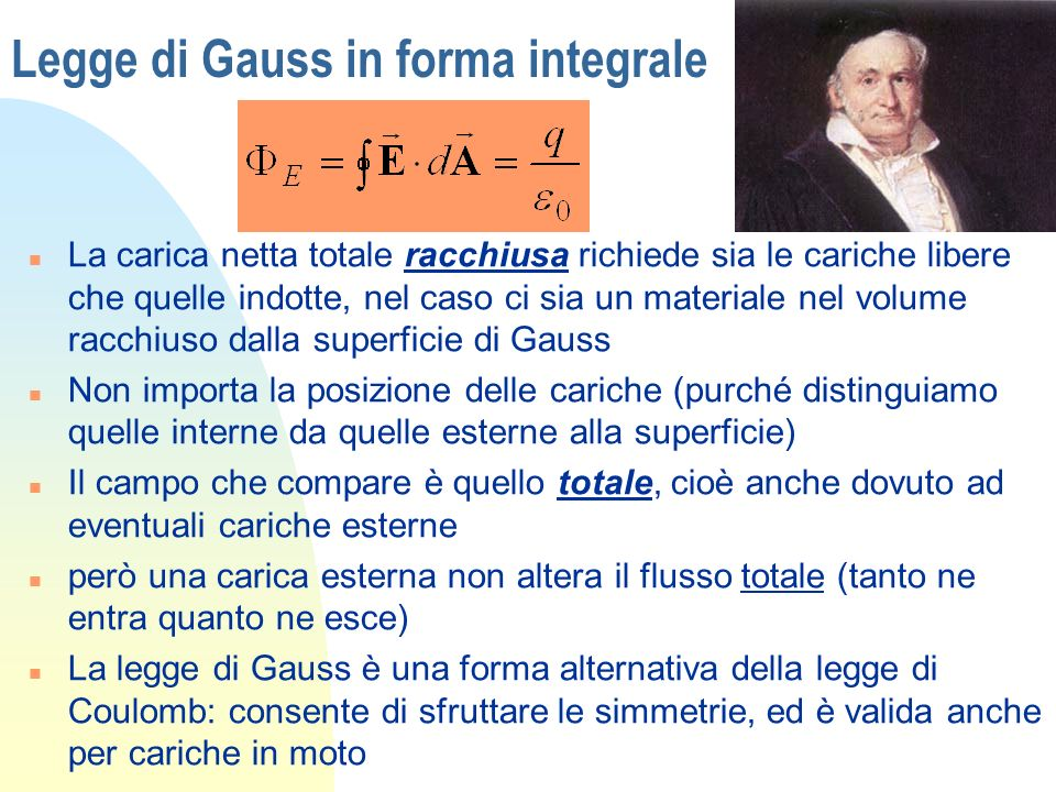 Legge di Gauss in forma integrale