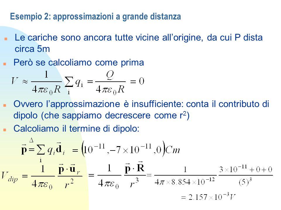 Esempio 2: approssimazioni a grande distanza